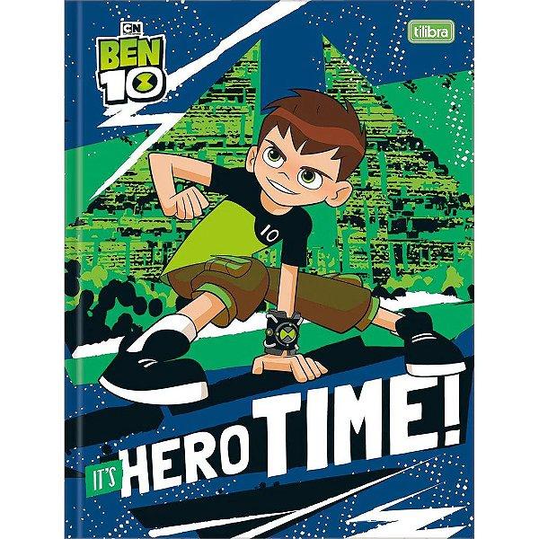 Caderno Brochura Ben 10 - It's Hero Time - 80 Folhas - Tilibra