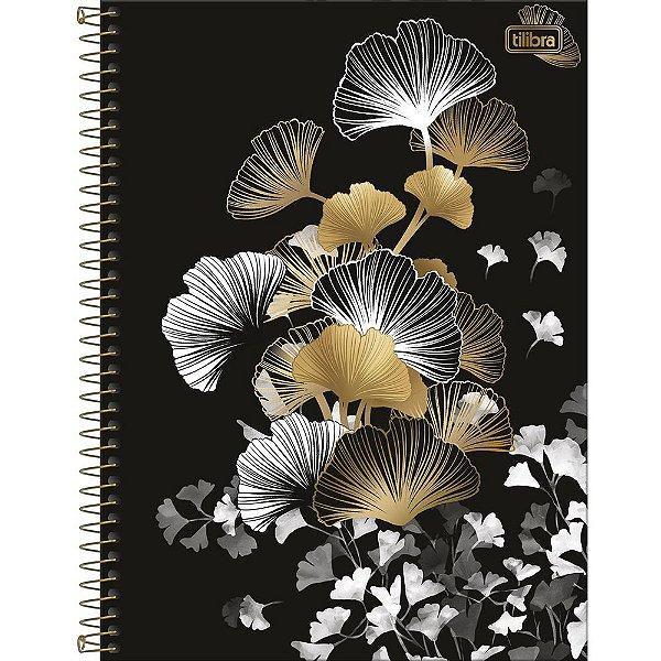 Caderno B&W - Folhas Douradas - 80 Folhas - Tilibra