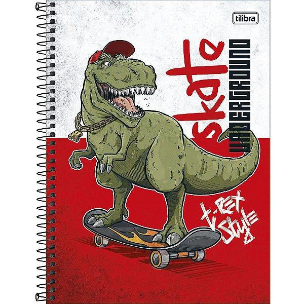 Caderno Raptor - Dino Skate - 80 Folhas - Tilibra