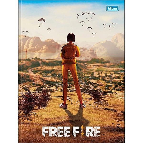 Caderno Brochura Free Fire - Na Mira - 80 Folhas - Tilibra