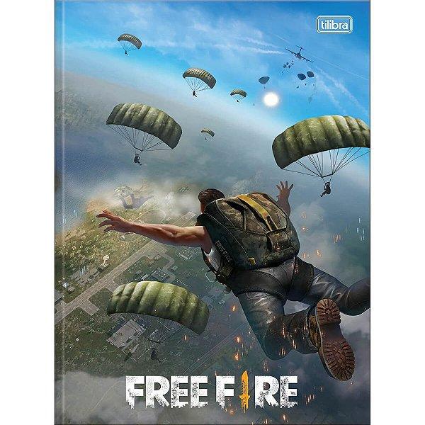 Caderno Brochura Free Fire - Paraquedas - 80 Folhas - Tilibra