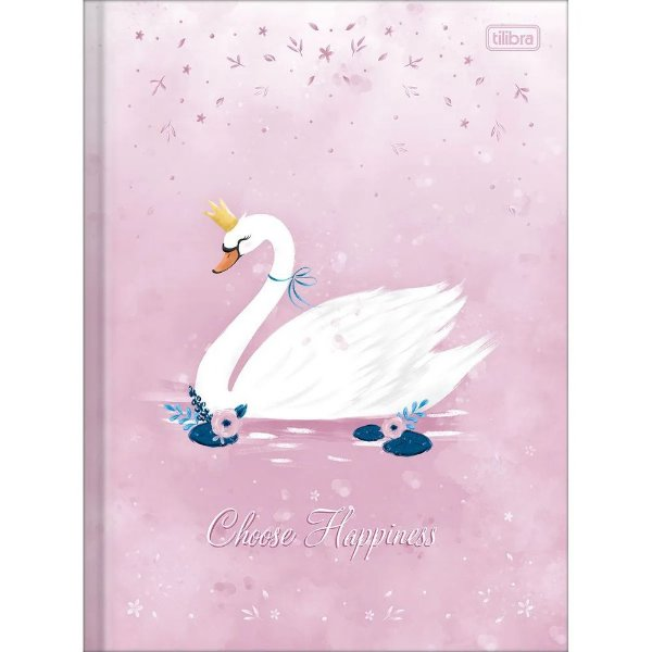 Caderno Brochura Royal - Choose Happiness - 80 Folhas - Tilibra