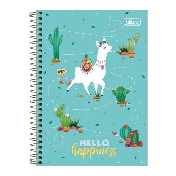 Caderno Pequeno 1/4 Hello - Happiness - Tilibra