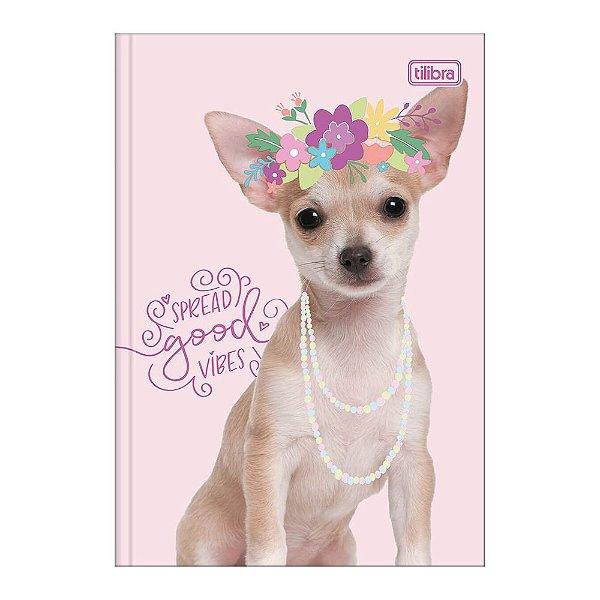 Caderno Pequeno 1/4 Hug Me - Cachorrinho Flowers - Tilibra
