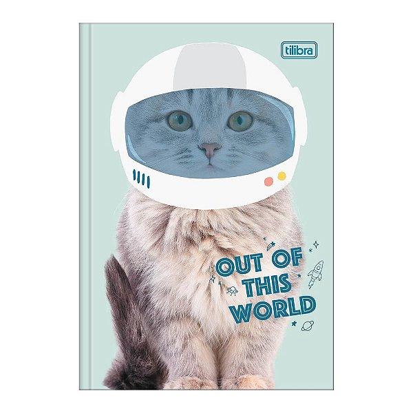 Caderno Pequeno 1/4 Hug Me - Gatinho Astronauta - Tilibra