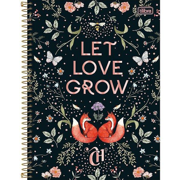 Caderno Capricho - Let Love Grow - 80 folhas - Tilibra