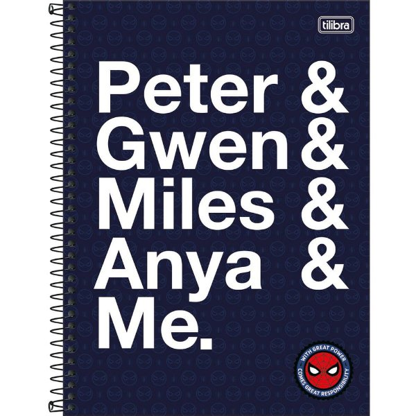 Caderno Spider Man - Peter - 80 Folhas - Tilibra