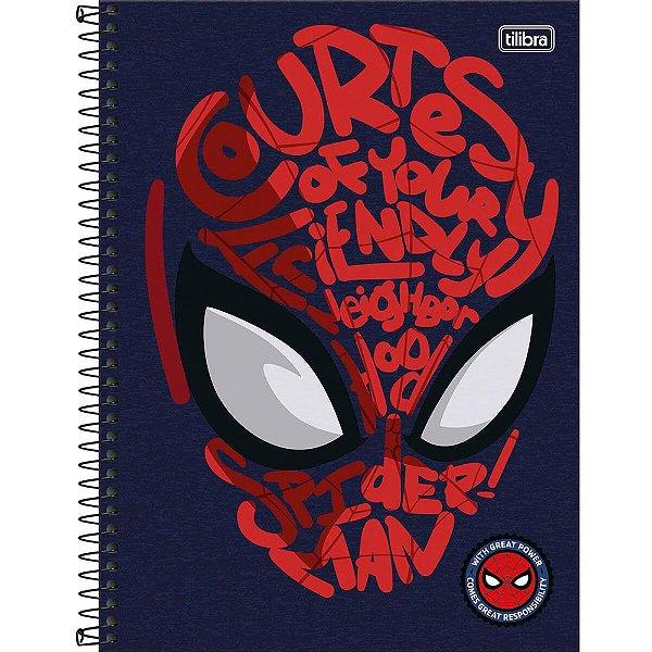 Caderno Spider Man - Máscara - 80 Folhas - Tilibra