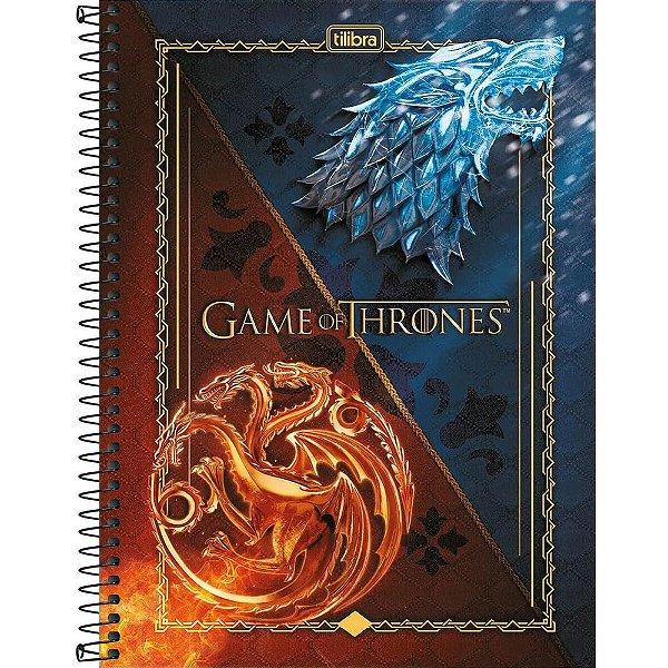 Caderno Game Of Thrones - Ice and Fire - 10 Matérias - Tilibra