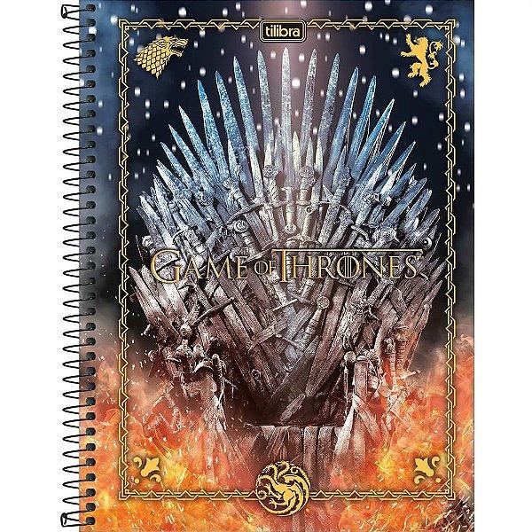 Caderno Game Of Thrones - Trono - 10 Matérias - Tilibra