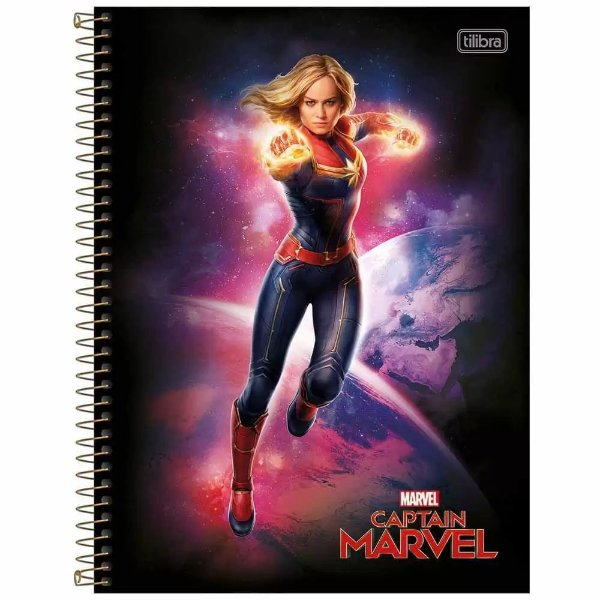 Caderno Capitã Marvel - Power - 80 Folhas - Tilibra