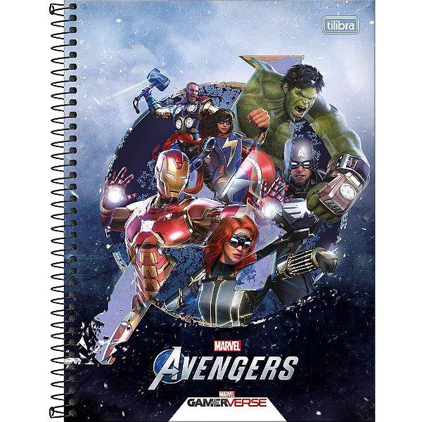Caderno Avengers GameVerse - Action - 80 Folhas - Tilibra