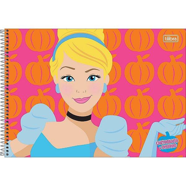 Caderno De Cartografia e Desenho Disney Princesa - Cinderela - Tilibra