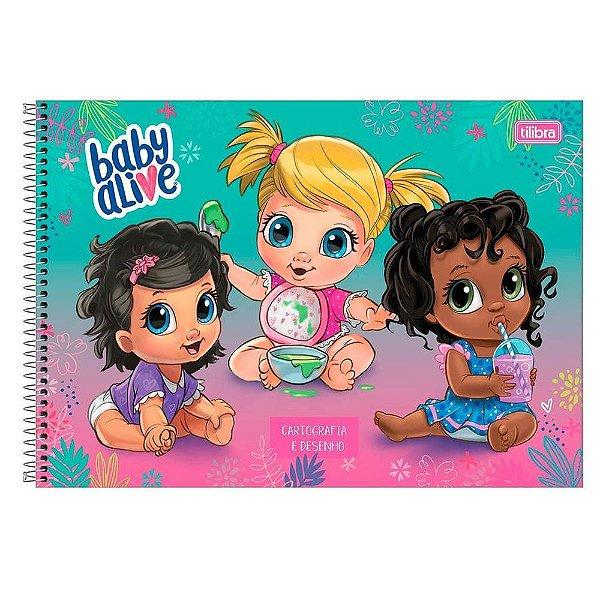 Caderno De Cartografia e Desenho Baby Alive - Trio - Tilibra