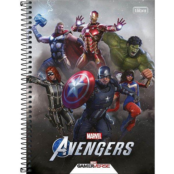 Caderno Avengers GameVerse - Heróis - 80 Folhas - Tilibra