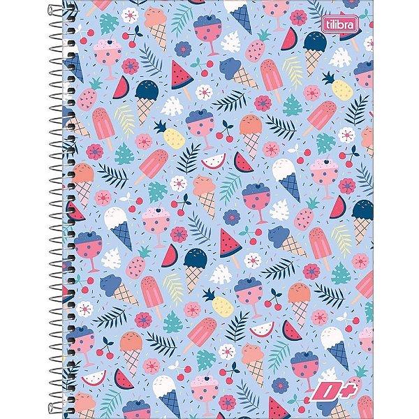 Caderno D+ Sorvetes - 10 Matérias - Tilibra