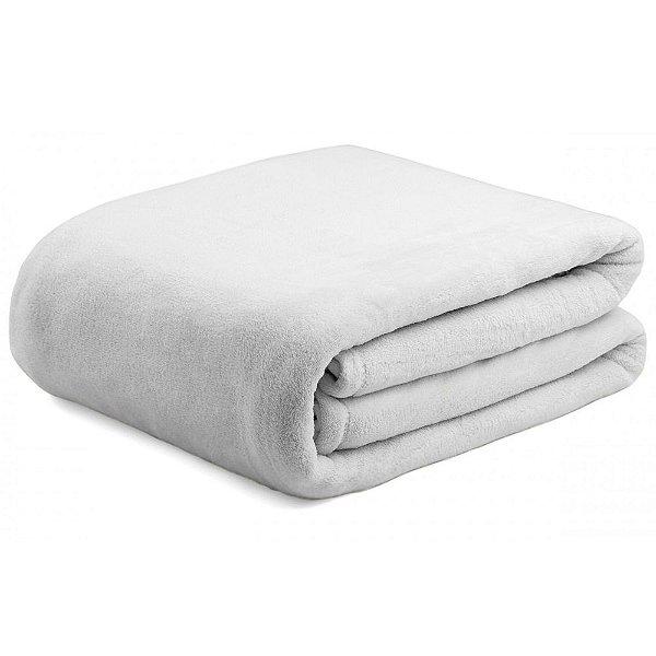 Cobertor Super Soft Liso Casal 340g  - Cinza - Naturalle