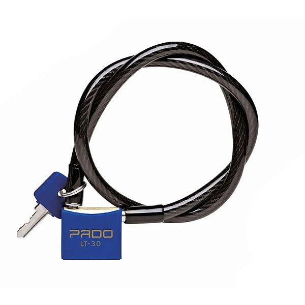 Cadeado Para Bike Com Chaves - LT-30 - Azul - Pado