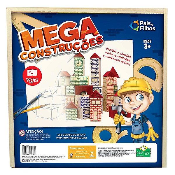 Estojo Mega Construções 120 peças - Pais e Filhos
