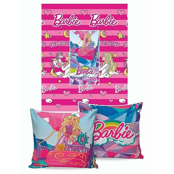 Manta Almofada Barbie - Jolitex