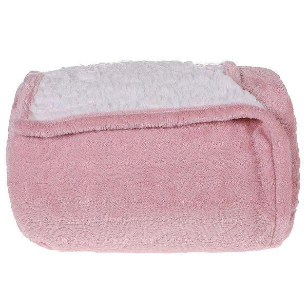 Cobertor com Sherpa Queen - Blush Tessi