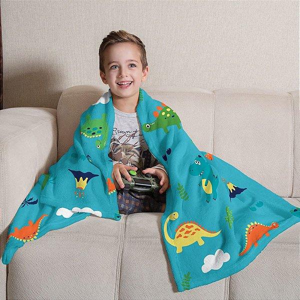 Manta Fleece Infantil 1,25m x 1,50m - Dino - Lepper