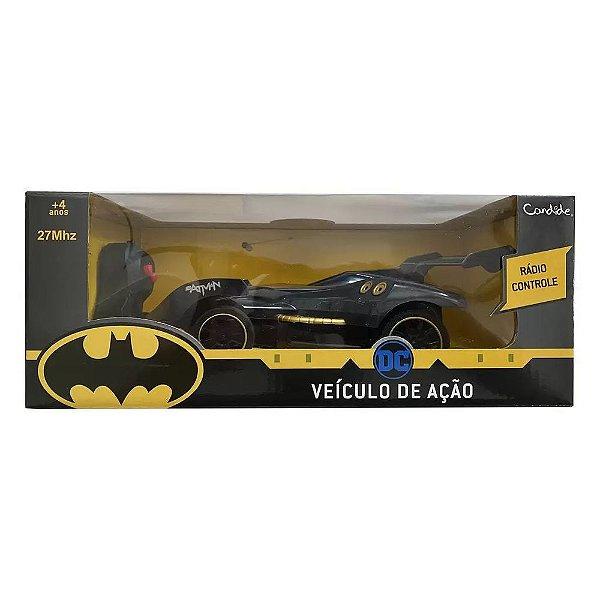 Carrinho Batman Controle Remoto Veículo De Ação - Candide
