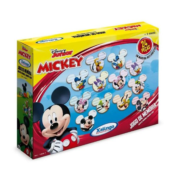 Jogo da Memória  A Casa do Mickey - 24 peças - Xalingo