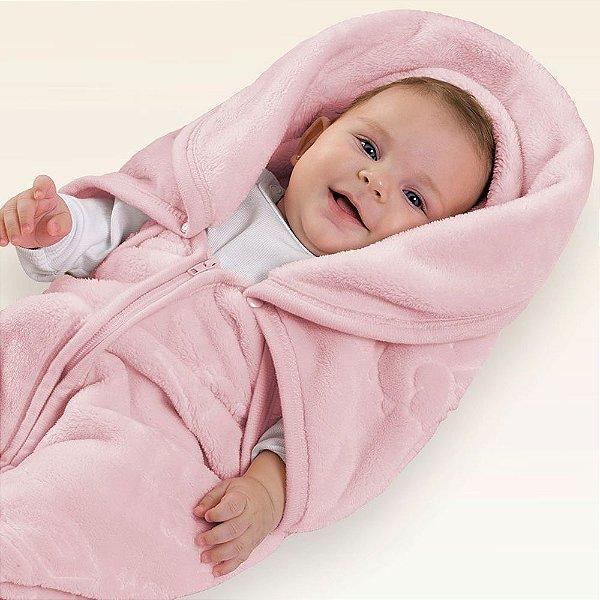 Baby Sac Microfibra com Relevo Pets - Rosa - Jolitex