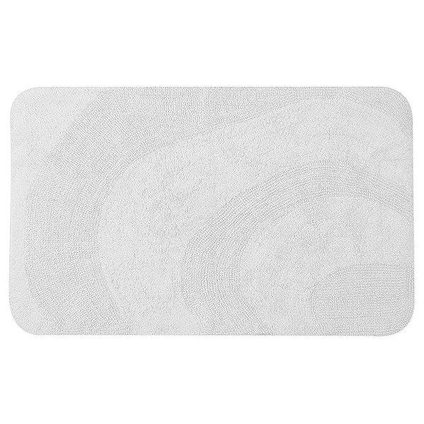 Tapete de Algodão para Banheiro Berlim Branco - 55 x 90cm - Naturalle