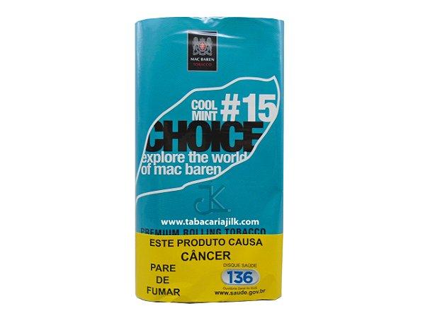 Tabaco/Fumo Para Cigarro Mac Baren 15 Menta Choice 30g