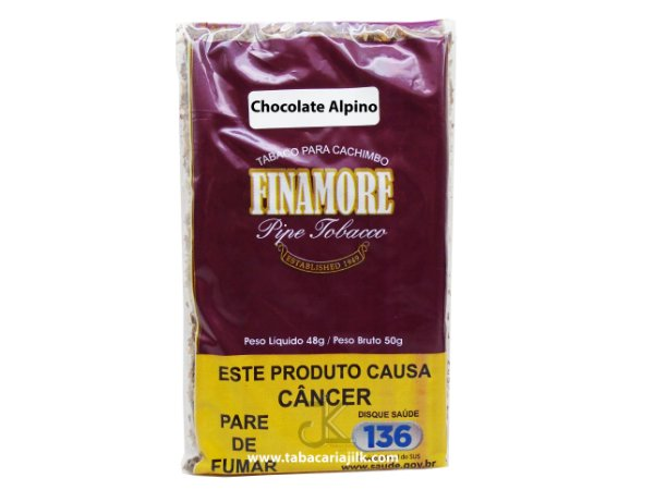 Tabaco/Fumo Para Cachimbo Finamore Chocolate Alpino 48g