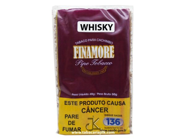 Tabaco/Fumo Para Cachimbo Finamore Whisky (Uísque) 48g