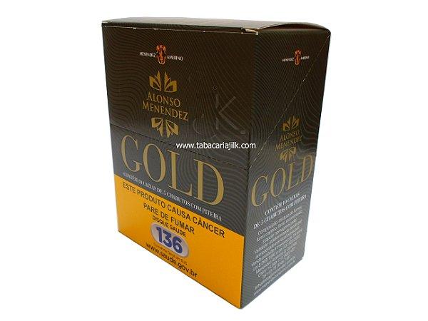 Cigarrilha Alonso Menendez Gold Com Piteira Caixa c/10 maços