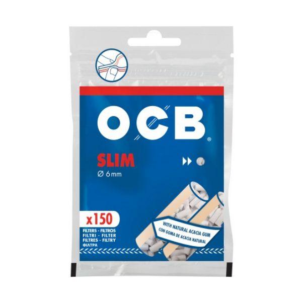 Filtro de Cigarro OCB Gummed slim 6mm C/150