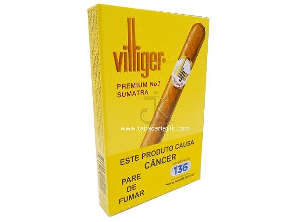 Charuto Villiger nº7 Premium Sumatra Petaca C/5