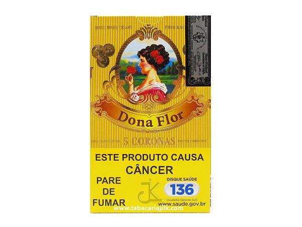 Charuto Dona Flor Corona Capa Clara C/5