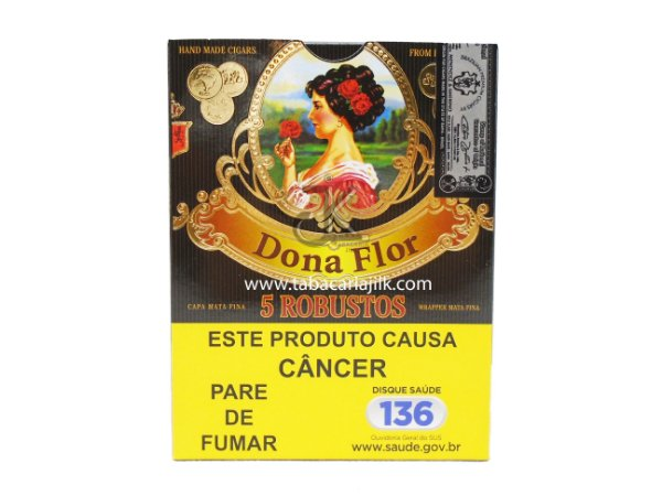 Charuto Dona Flor Robusto Mata Fina C/5