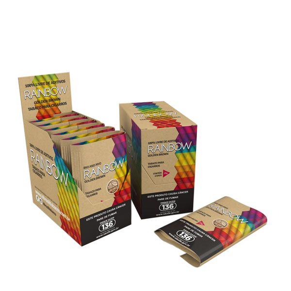 Tabaco/Fumo para cigarro Hi Tobacco Rainbow Orgânico Golden Brown caixa C/6