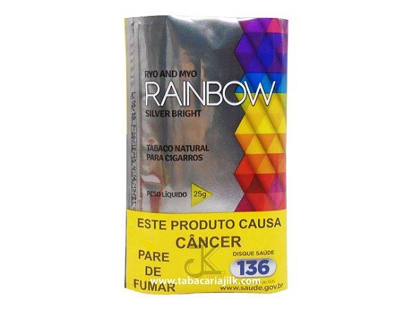 Tabaco/Fumo Para Cigarro Rainbow Silver Bright 25g