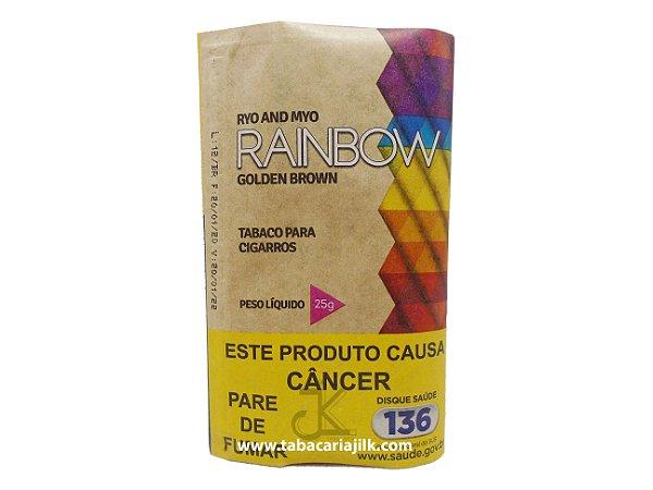 Tabaco/Fumo Para Cigarro Rainbow Golden Brown 25g