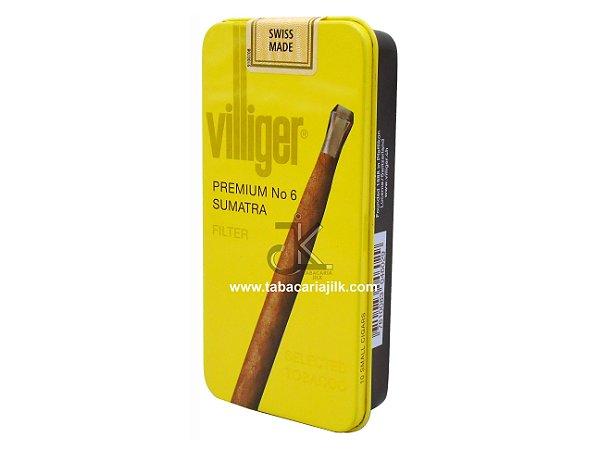 Cigarrilha Villiger Nº6 Premium Sumatra C/10