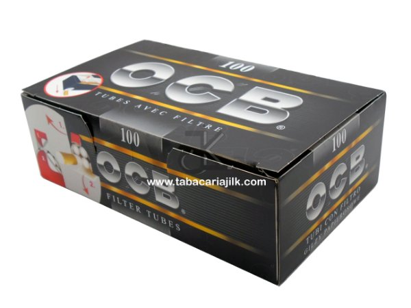 Tubos de Cigarro com Filtro OCB Black C/100