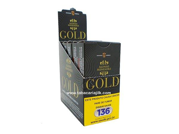 cigarrilha Alonso Menendez gold sem piteira caixa 5x10