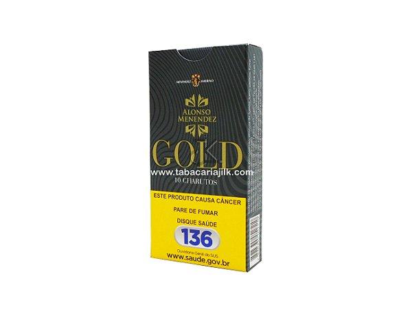 Cigarrilha Alonso Menendez Gold Sem Piteira Maço C/10