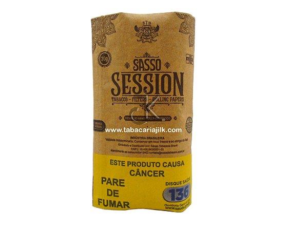 tabaco/fumo para cigarro sasso session com seda e filtro.