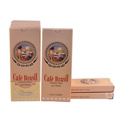 Cigarrilha Café Brasil Com Piteira C/5