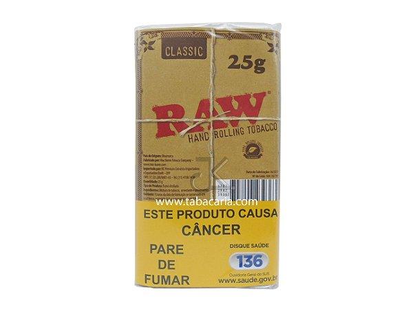 Tabaco/Fumo para Cigarro RAW Classic 25g