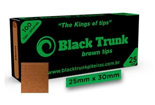 Piteira Black Trunk Brown Tips Large 25mm C/100