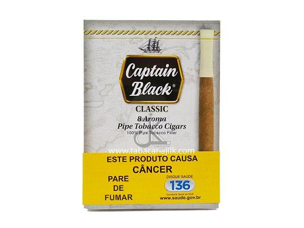 Cigarrilha Captain Black Classic Com Piteira C/8